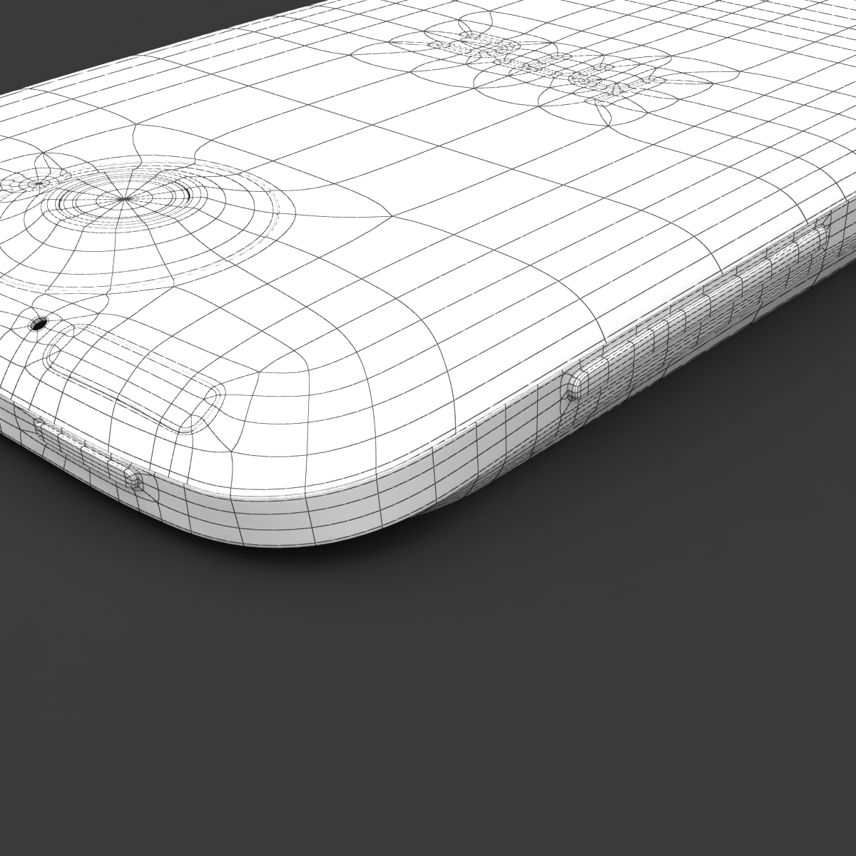htc one x+ black and white 3d model 3ds max fbx c4d lwo obj 151480