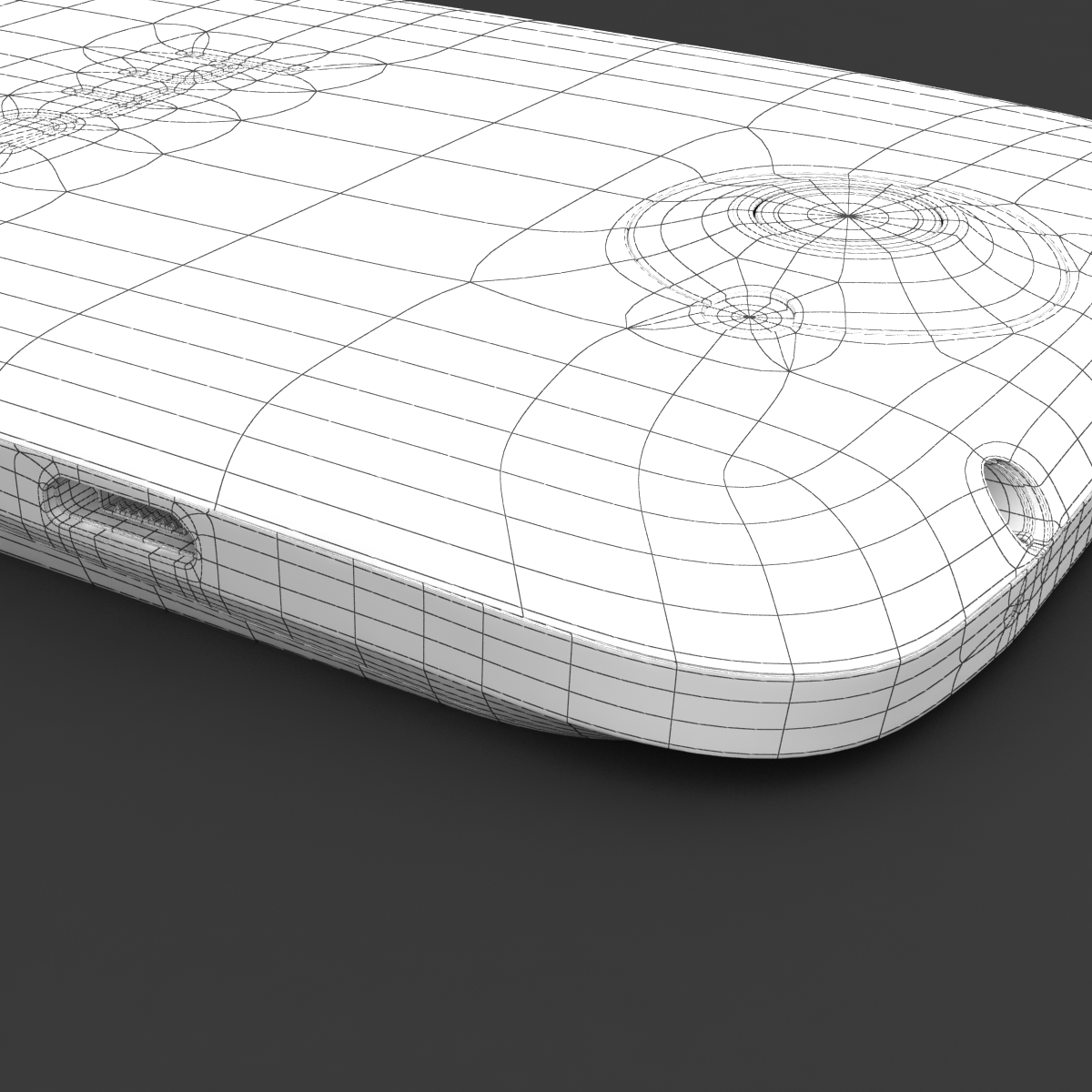 htc one x+ black and white 3d model 3ds max fbx c4d lwo obj 151481