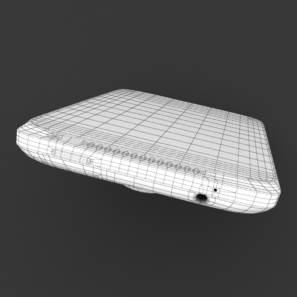 htc one x+ black and white 3d model 3ds max fbx c4d lwo obj 151482