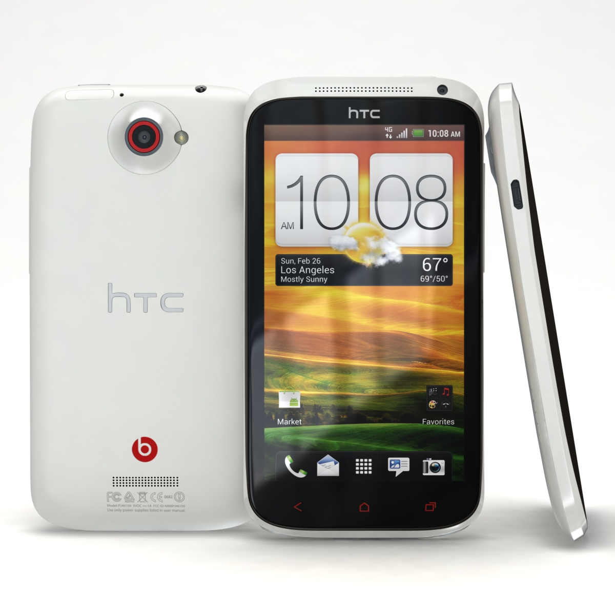 htc one x + polar white 3d model 3ds max fbx c4d lwo obj 151396