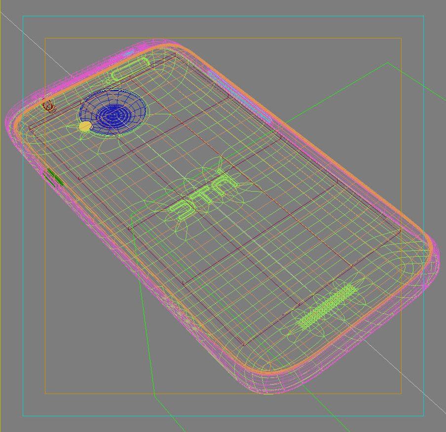 HTC One X+ Polar White ( 239KB jpg by 3dtoss )
