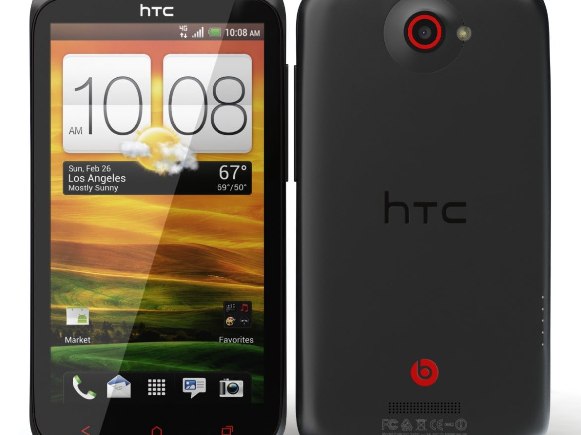 HTC One X+ Stealth Black ( 517.17KB jpg by 3dtoss )