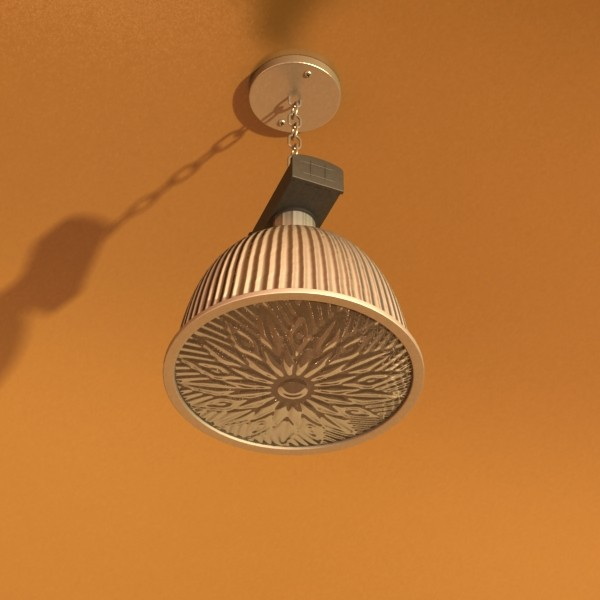 industrial light fixture 3d model 3ds max fbx obj 131363