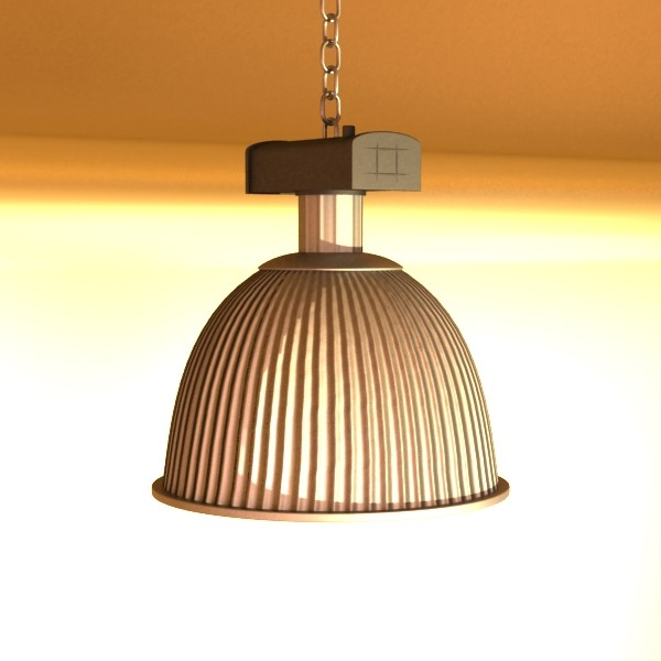 industrial light fixture 3d model 3ds max fbx obj 131364