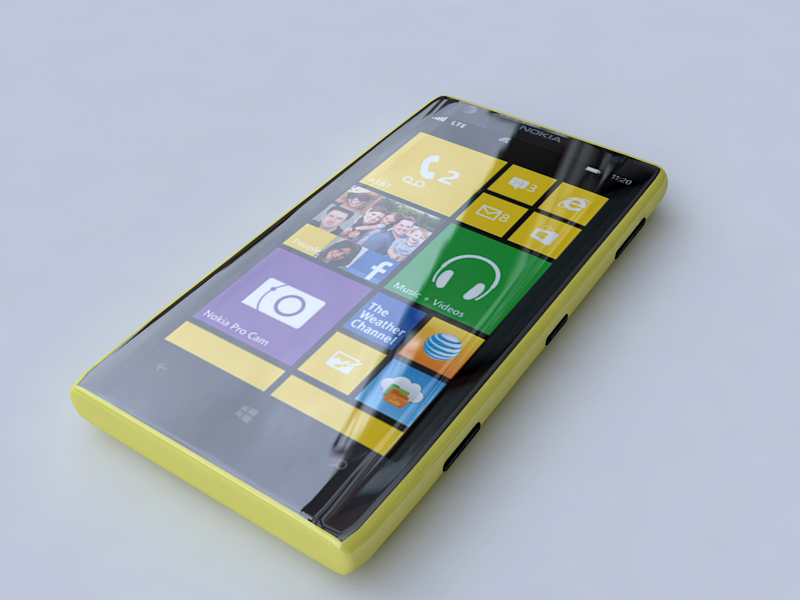 nokia lumia 1020 3d model 3ds max fbx obj 156737