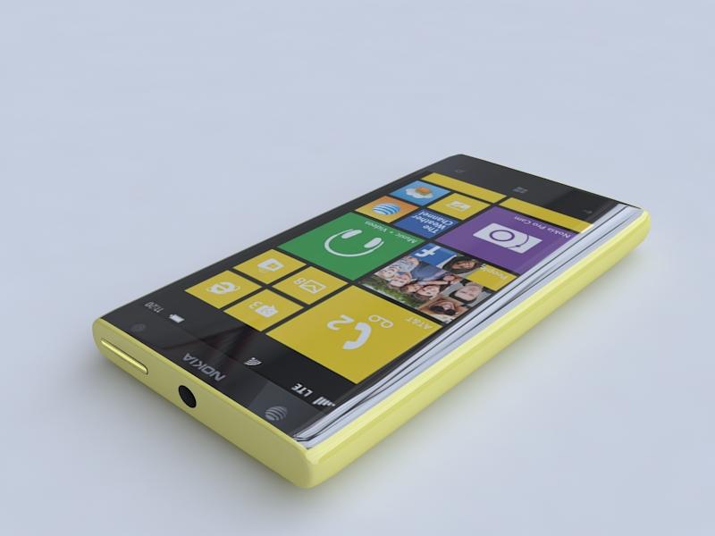 nokia lumia 1020 3d model 3ds max fbx obj 156738