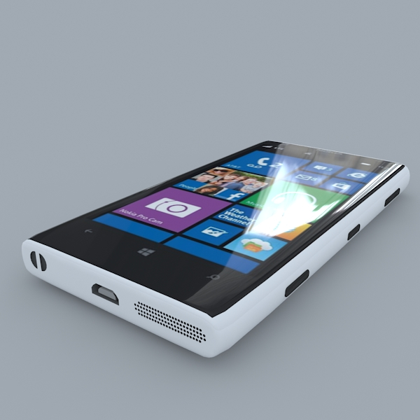 nokia lumia 1020 (white) 3d model 3ds max obj 158171
