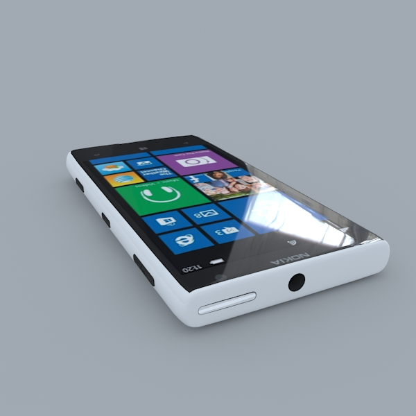 nokia lumia 1020 (white) 3d model 3ds max obj 158173