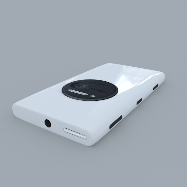 nokia lumia 1020 (white) 3d model 3ds max obj 158174