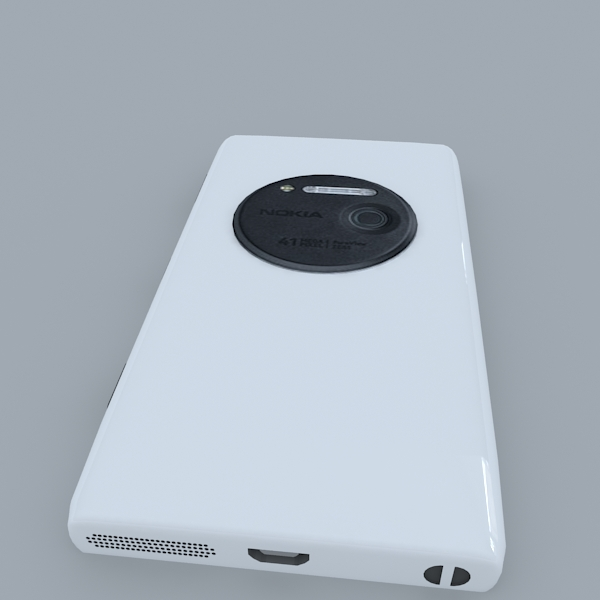 nokia lumia 1020 (white) 3d model 3ds max obj 158175
