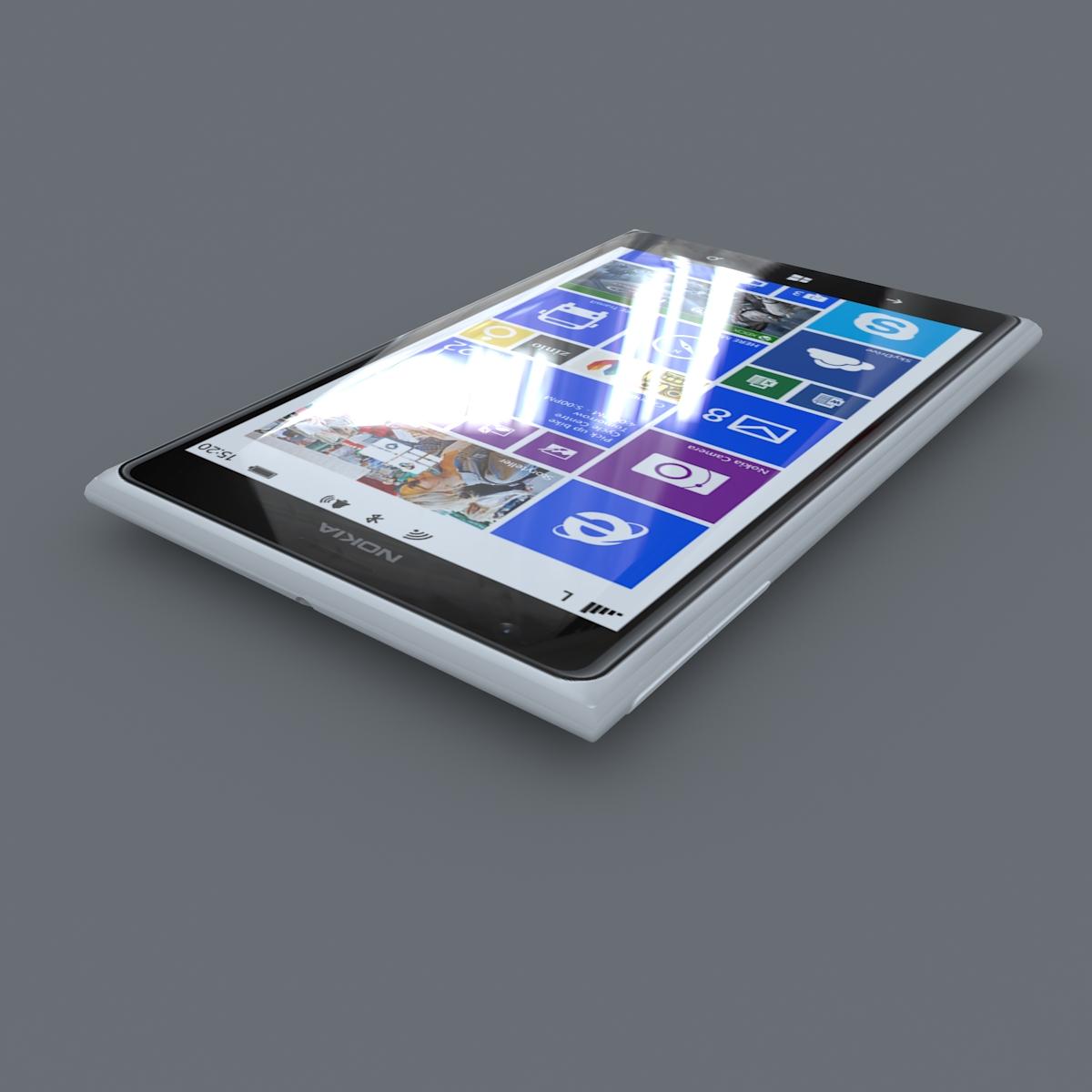 nokia lumia 1520 white 3d model max fbx c4d lxo ma mb obj 158422