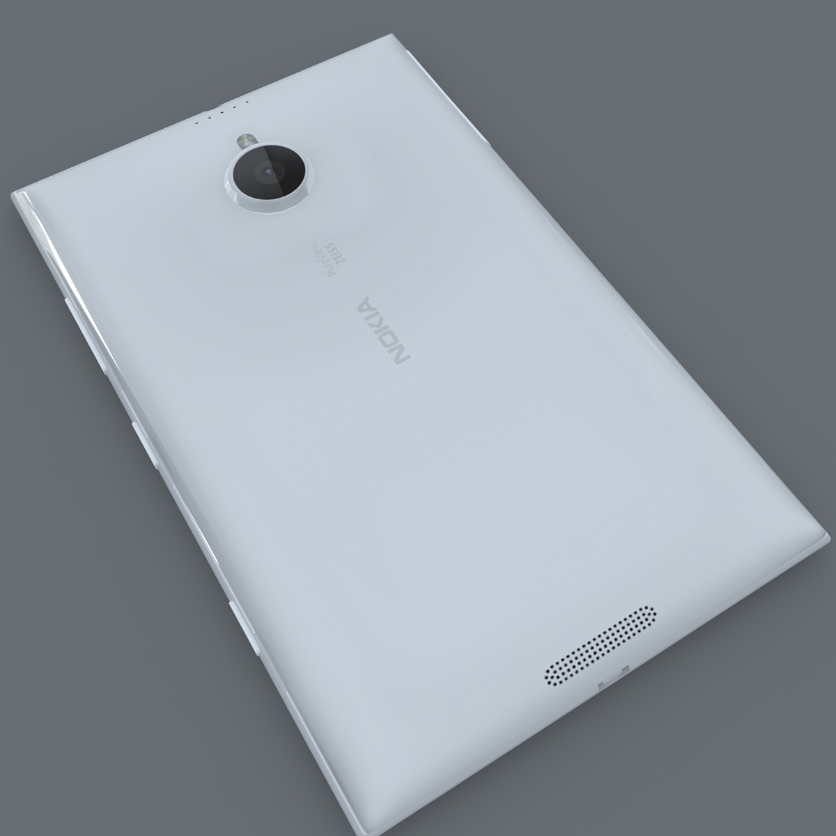nokia lumia 1520 bijela 3d model max fbx c4d lxo ma mb obj 158424