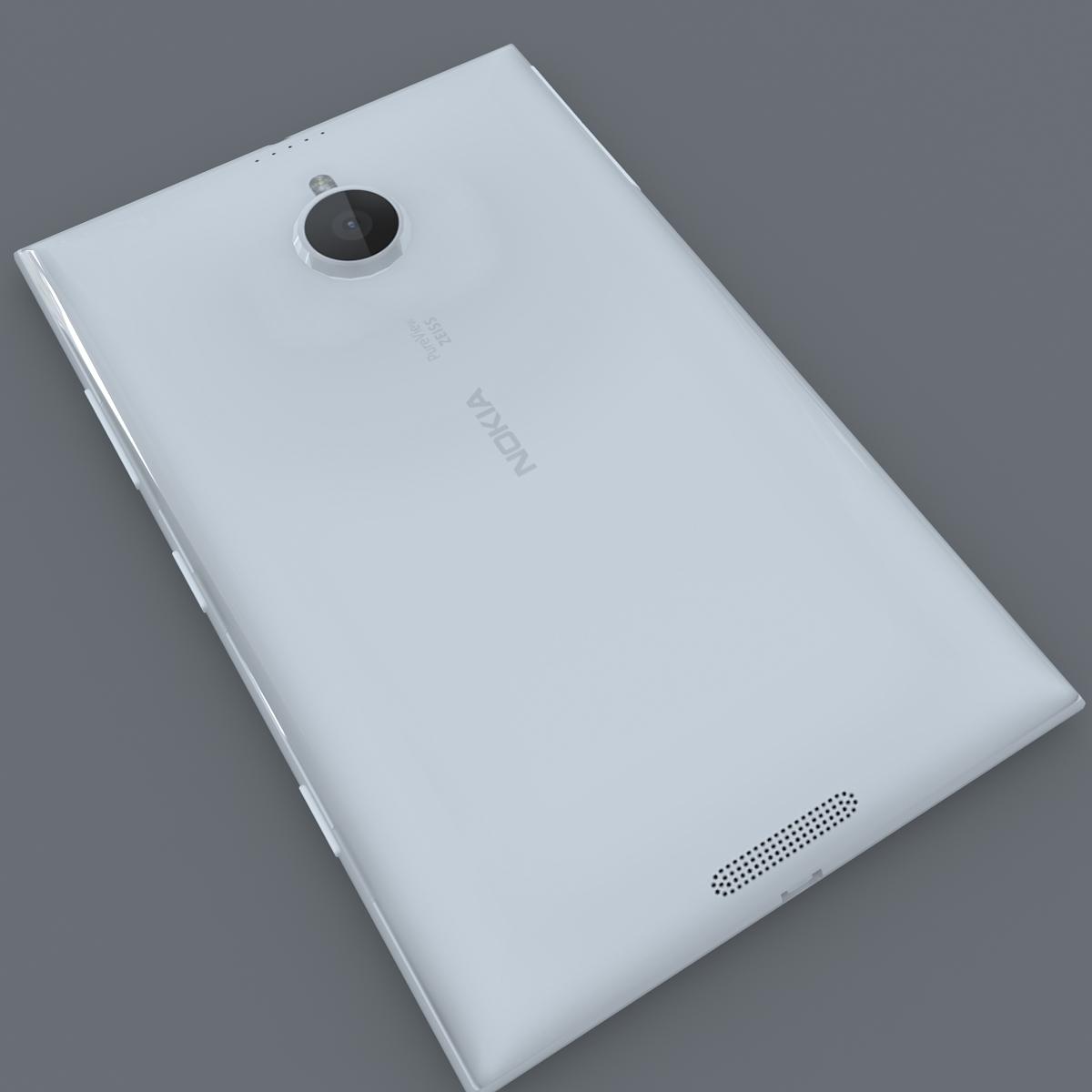 nokia lumia 1520 white 3d model max fbx c4d lxo ma mb obj 158424