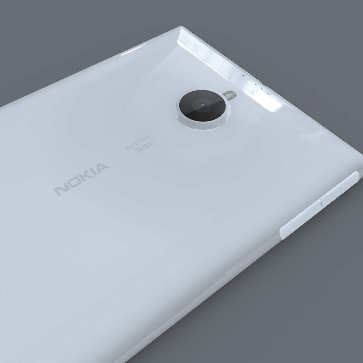 nokia lumia 1520 white 3d model max fbx c4d lxo ma mb obj 158425