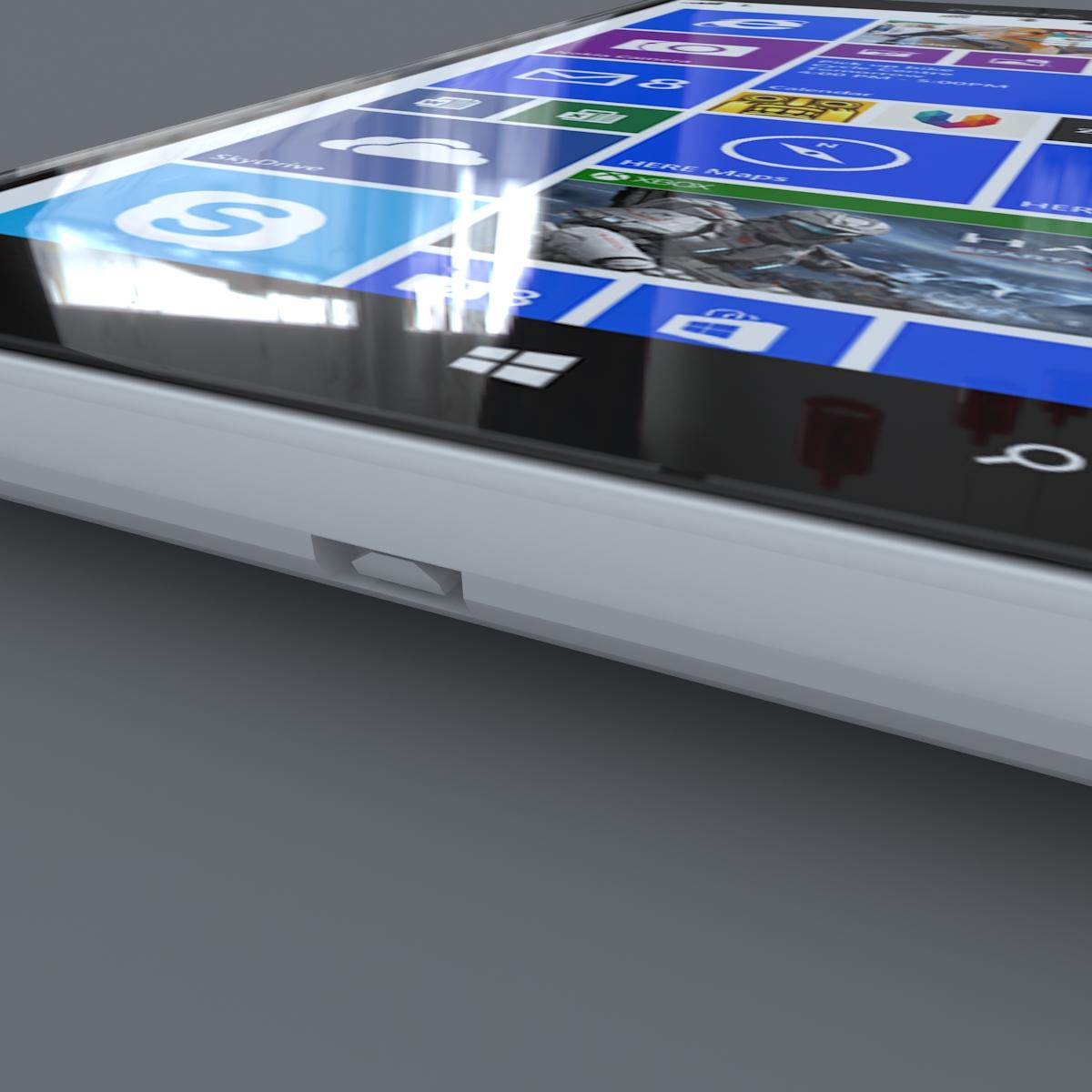 nokia lumia 1520 white 3d model max fbx c4d lxo ma mb obj 158426