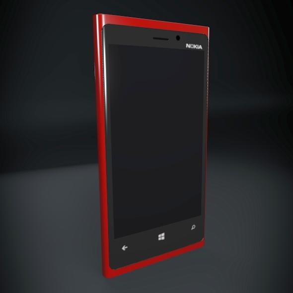 nokia lumia 920 smartphone 3d model fbx blend dae 3dm obj 156888