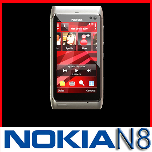 nokia n 8 high detail 3d model 3ds max fbx obj 129735