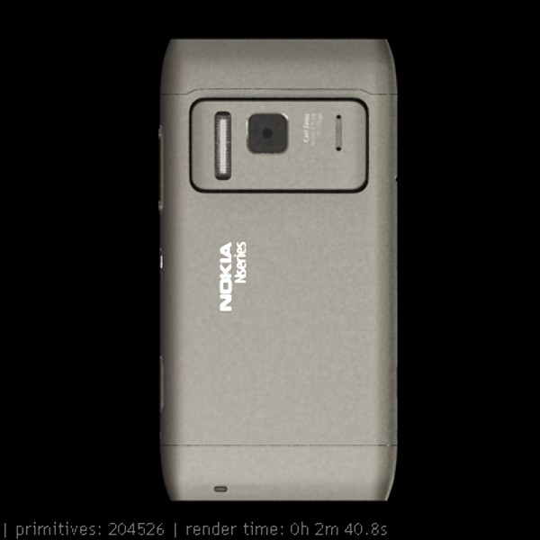 nokia n 8 high detail 3d model 3ds max fbx obj 129738