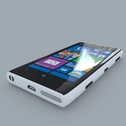 Nokia Lumia 1020 (White) 3d model 3ds max obj