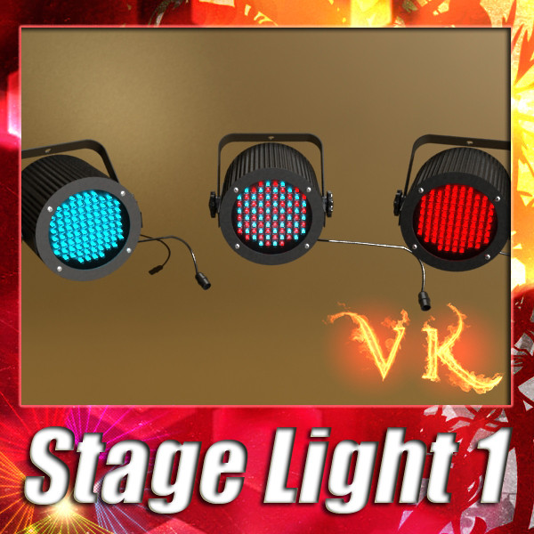 realistic stage light 01 3d model 3ds max fbx obj 130714