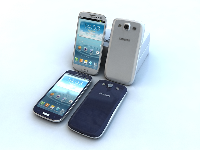 samsung galaxy s3 3d model maks 141524