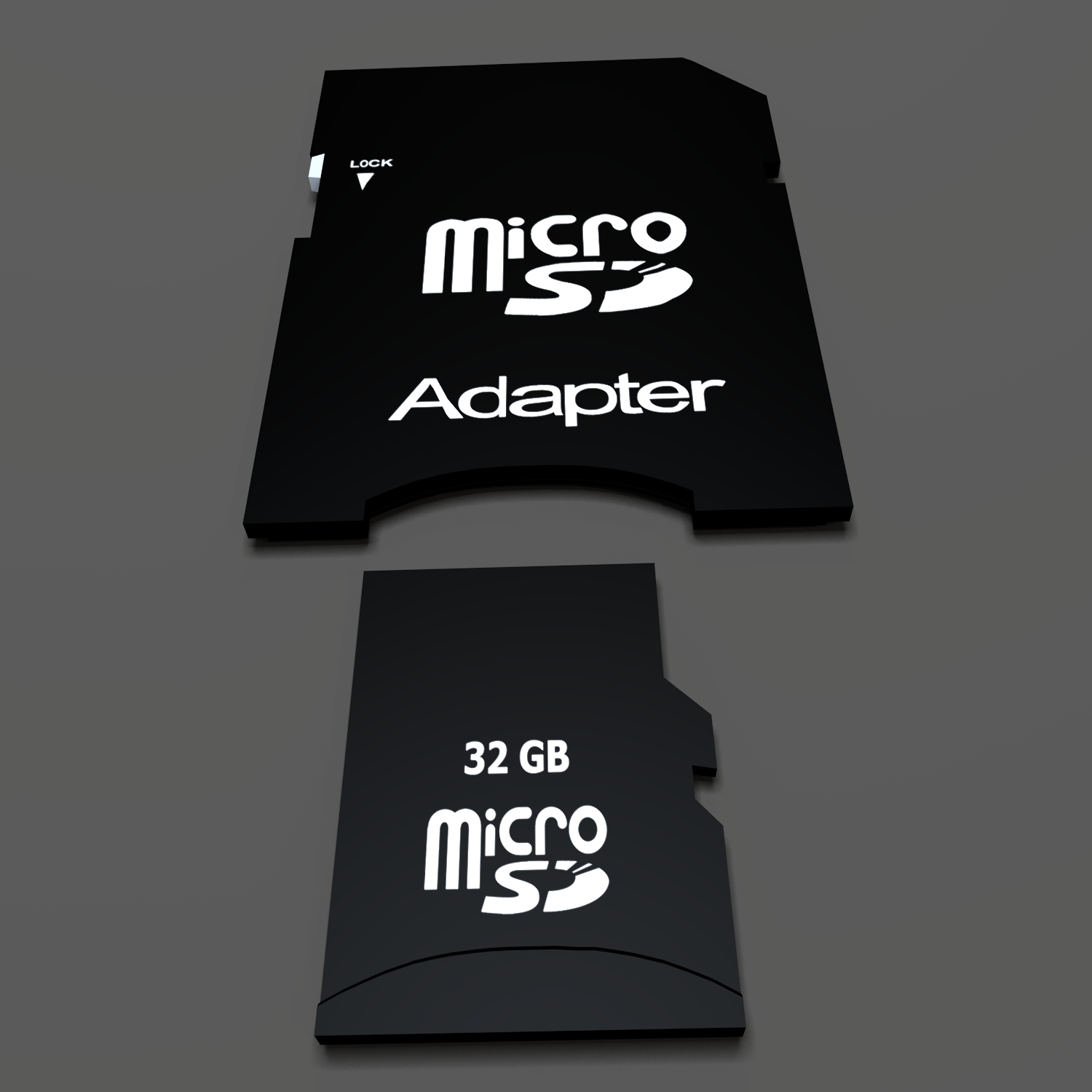 sd card and adapter 3d model blend obj 139268