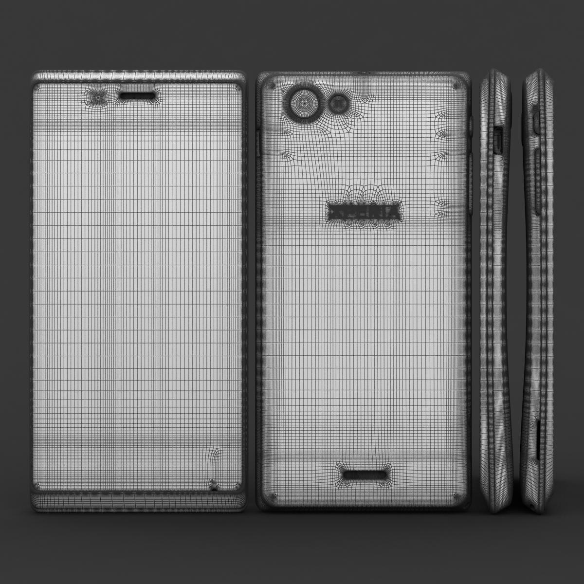 sony xperia j 3d модел 3ds макс fbx c4d lwo obj 151169