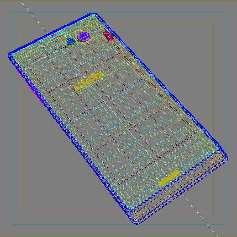 sony xperia j 3d модел 3ds макс fbx c4d lwo obj 151178
