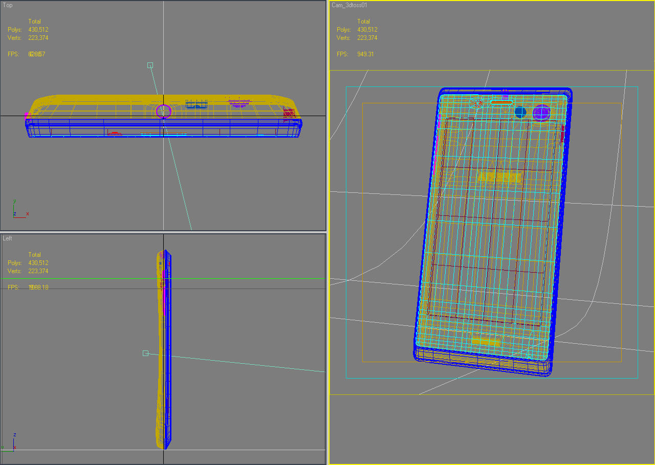 sony xperia j 3d модел 3ds макс fbx c4d lwo obj 151179