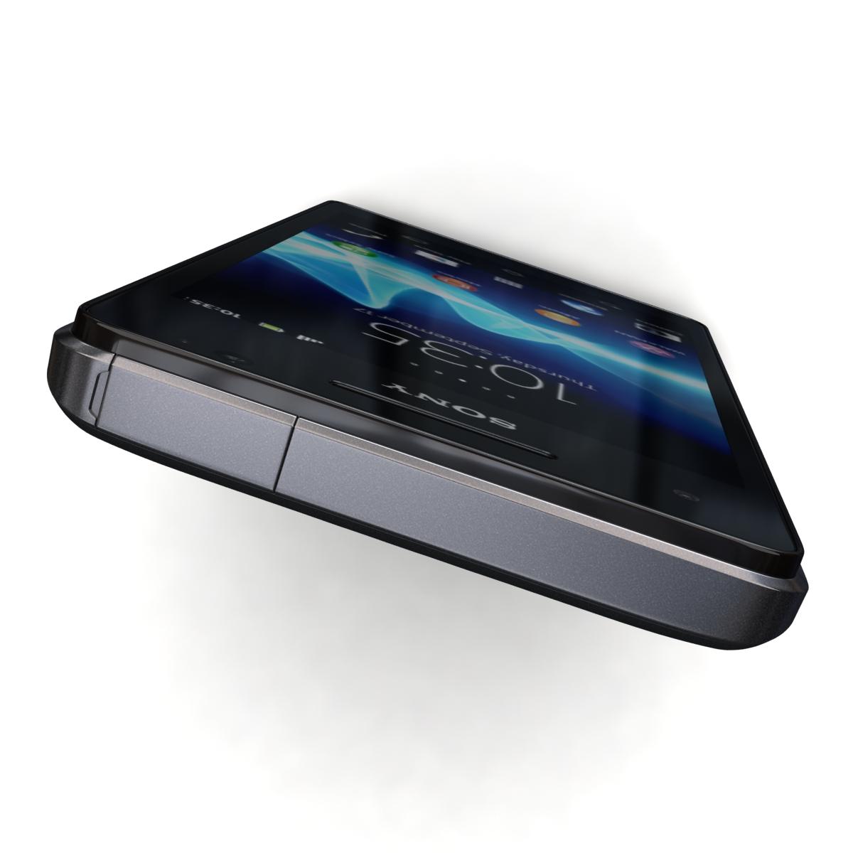 sony xperia v 3d model 3ds max fbx c4d lwo obj 151200