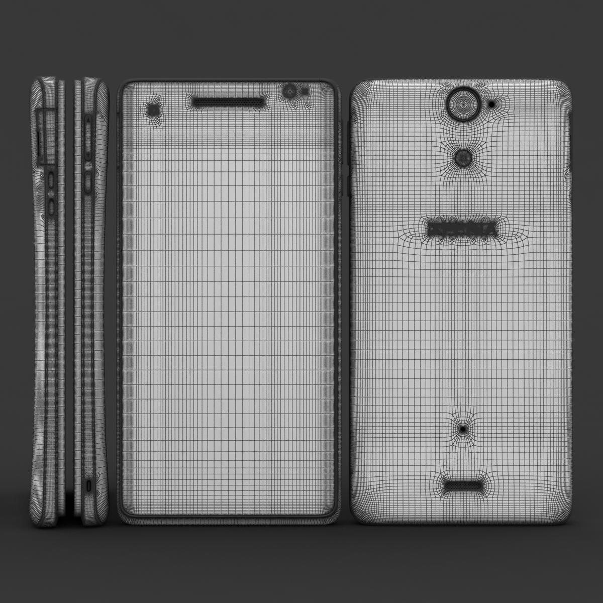 sony xperia v 3d model 3ds max fbx c4d lwo obj 151203