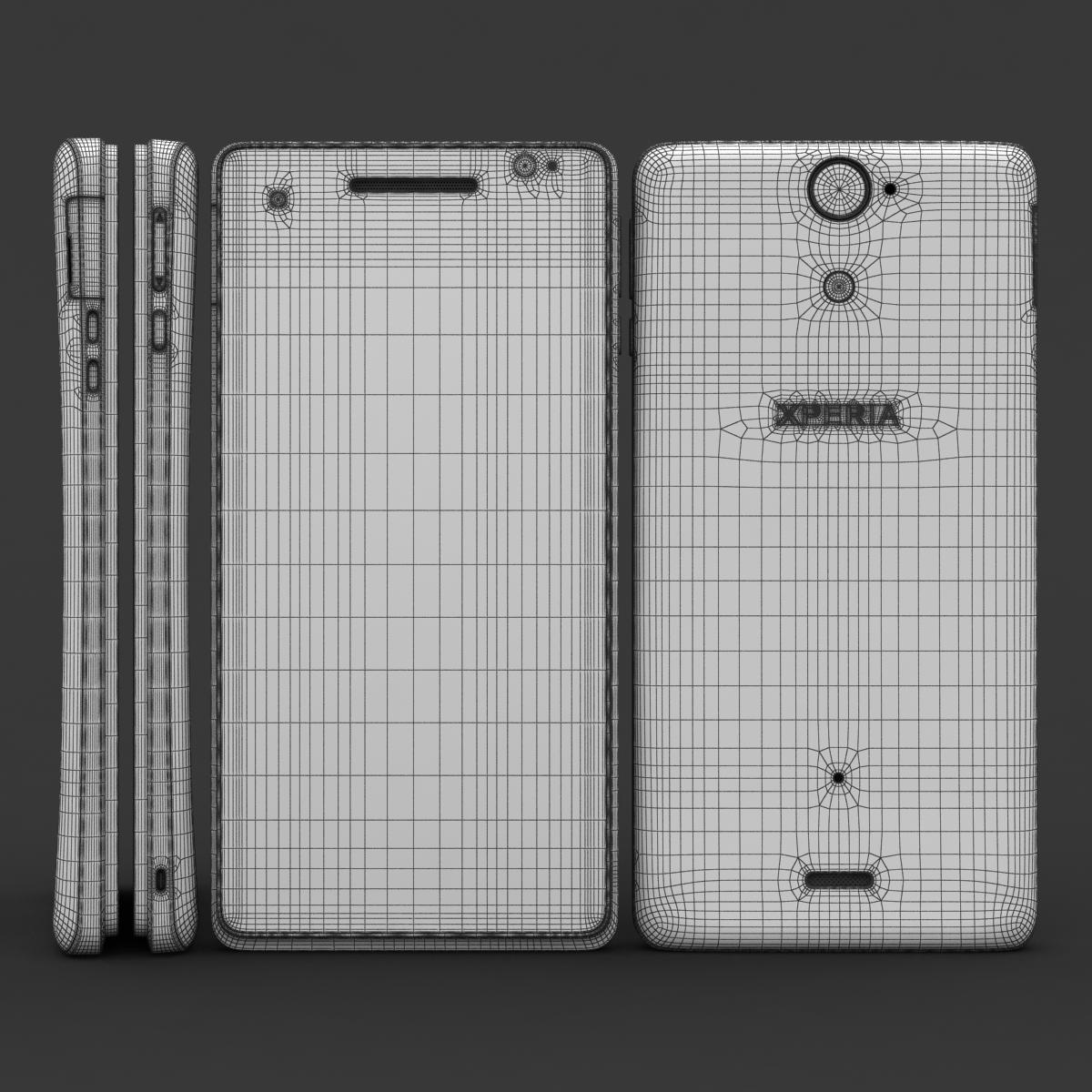 sony xperia v 3d model 3ds max fbx c4d lwo obj 151204