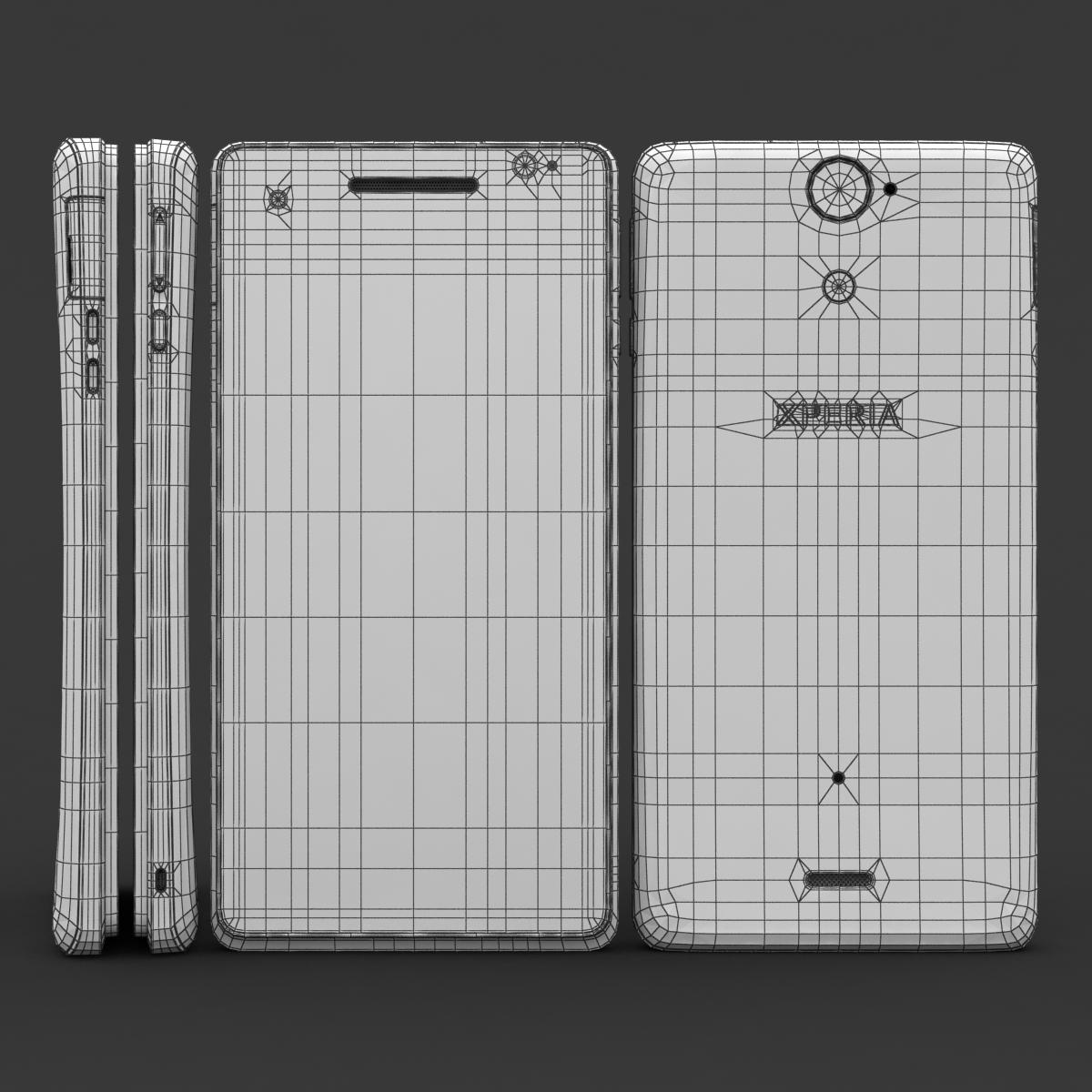 sony xperia v 3d model 3ds max fbx c4d lwo obj 151205