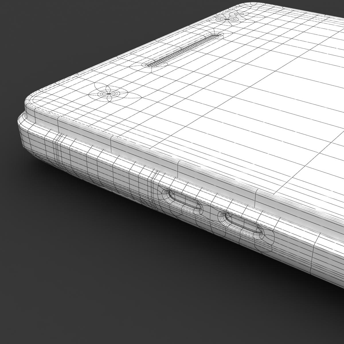 sony xperia v 3d model 3ds max fbx c4d lwo obj 151210