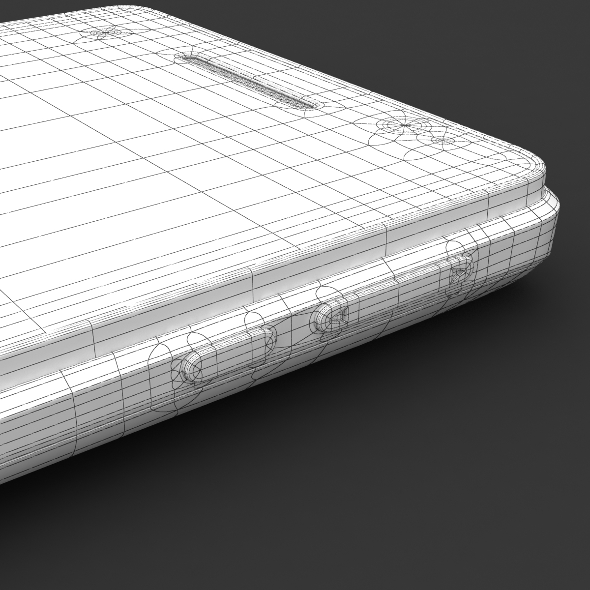 sony xperia v 3d model 3ds max fbx c4d lwo obj 151211
