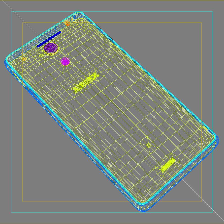 sony xperia v 3d model 3ds max fbx c4d lwo obj 151213