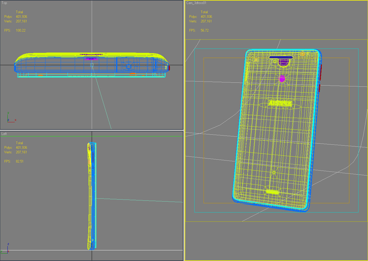 sony xperia v 3d model 3ds max fbx c4d lwo obj 151214