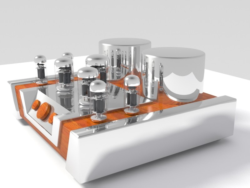 vakuum tube amplifikatörü 02 3d model 3ds max 128451