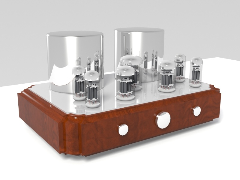 vakuum tube amplifikatörü 03 3d model 3ds max 148979