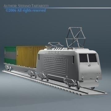 european cargo train 3d model 3ds dxf obj 77762