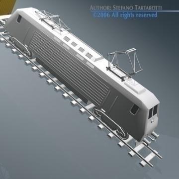 european cargo train 3d model 3ds dxf obj 77763