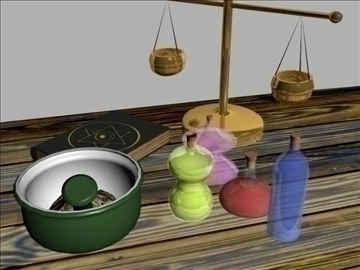 alchemy set 3d model lwo 108938