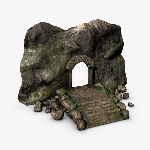 ancient entrance 3d model 3ds max fbx c4d obj 138684