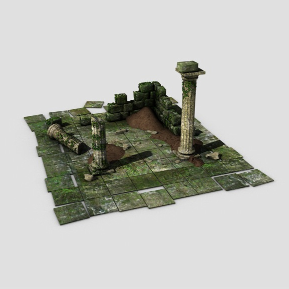 ancient ruins 3d model 3ds max fbx c4d obj 138677
