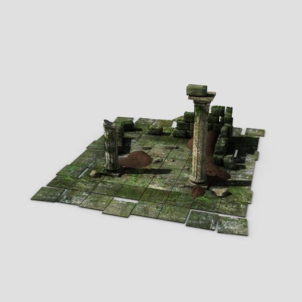 ancient ruins 3d model 3ds max fbx c4d obj 138678