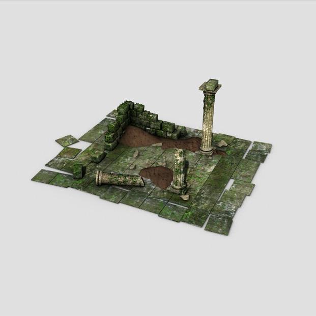 ancient ruins 3d model 3ds max fbx c4d obj 138680