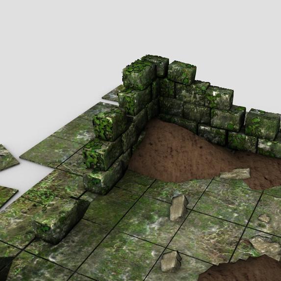 ancient ruins 3d model 3ds max fbx c4d obj 138681