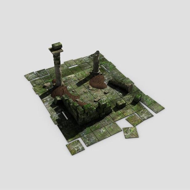 ancient ruins 3d model 3ds max fbx c4d obj 138682