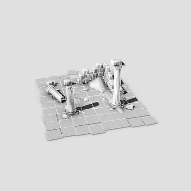 ancient ruins 3d model 3ds max fbx c4d obj 138683