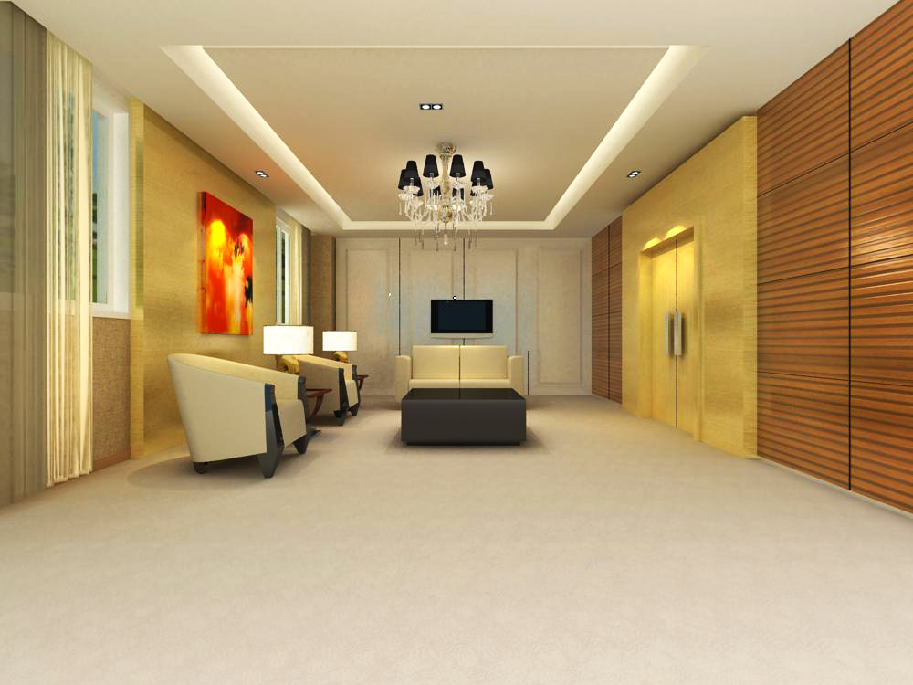 reception space 002 3d model max 145057